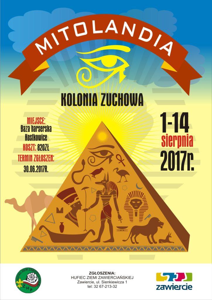 plakat kolonie zuchowe 2017